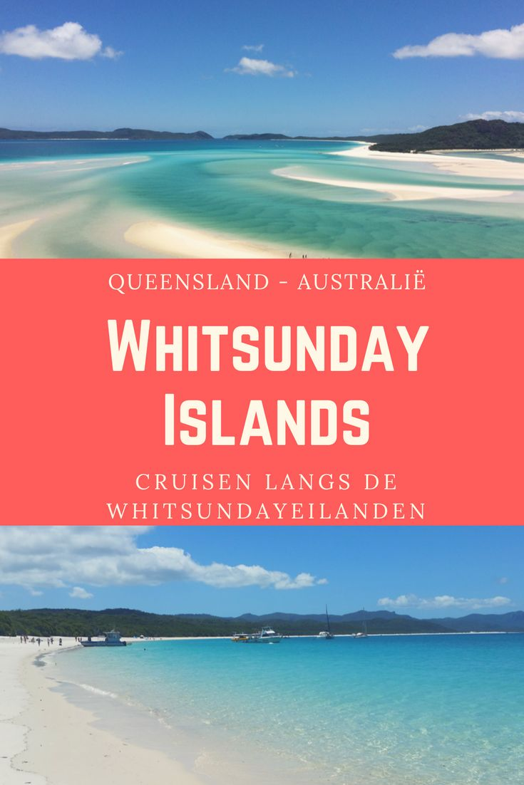 De Whitsundayeilanden liggen ten Oosten van Australië in de staat Queensland. Ontdekkingsreiziger James Cook ontdekte de eilanden op Pinksteren (Whitsunday in het Engels), vandaar de naam Whitsundayeilanden. Er zijn in totaal 74 eilanden, die deel uitmaken van het Great Barrier Reef. Voor ons zijn de Whitsunday Islands één van de mooiste plekken die we ooit bezocht hebben. Lees hier meer...