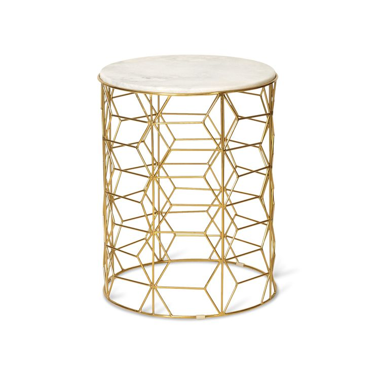 Gold Mica Side Table | Oliver Bonas