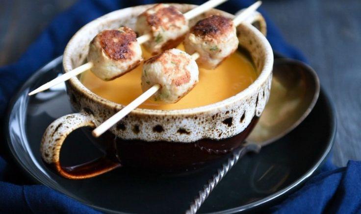 Крем-суп из сладкой кукурузы с фрикадельками из индейки » Рецепты » Кулинарный журнал Насти Понедельник. Кулинарные рецепты с фото.