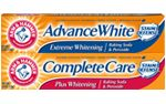 None of the Arm & Hammer Toothpastes contains any gluten in them: Confirmed May 2013 Call us toll-free at 1-800-524-1328 Monday - Friday from 9:00 AM – 5:00 PM ET.   Church & Dwight Co., Inc. 469 N. Harrison St. Princeton, NJ 08540