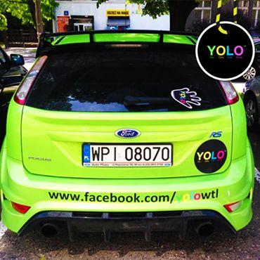 YOLO NEON GREEN CAR!