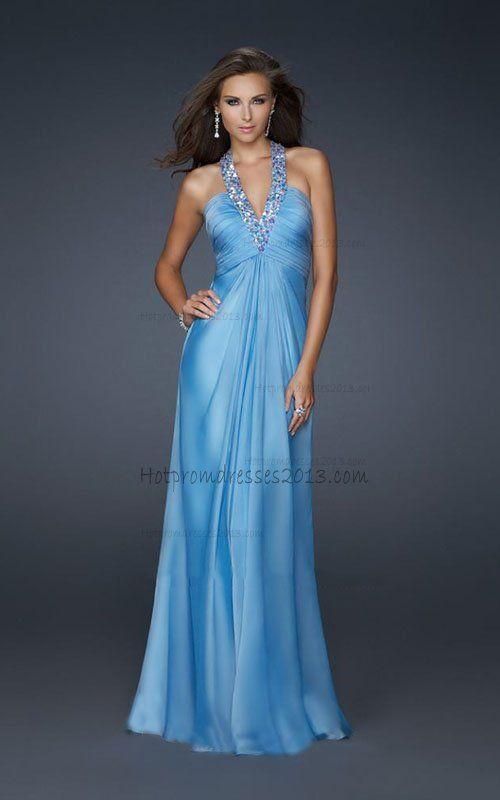 Aqua Radiant Halter Empire Waist Dresses for Sale [Aqua Halter Dresses] - $168.00 : Discount Dresses for Prom 2013,Up 50% Off