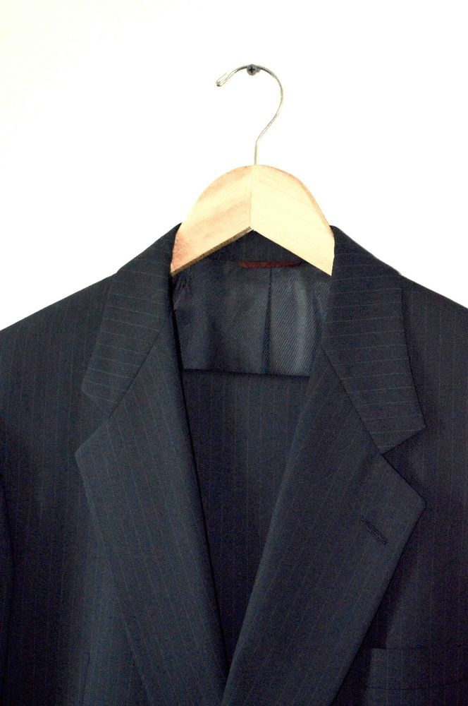http://www.ebay.com/itm/252749290623?ssPageName=STRK:MESELX:IT&_trksid=p3984.m1555.l2649 New, Men's Hart Schaffner Marx Navy Pinstripe Suit Size 40R - Retail $795 #HartSchaffnerMarx #TwoButton #menswear #apparel #clothes #Clothing #suit #suits