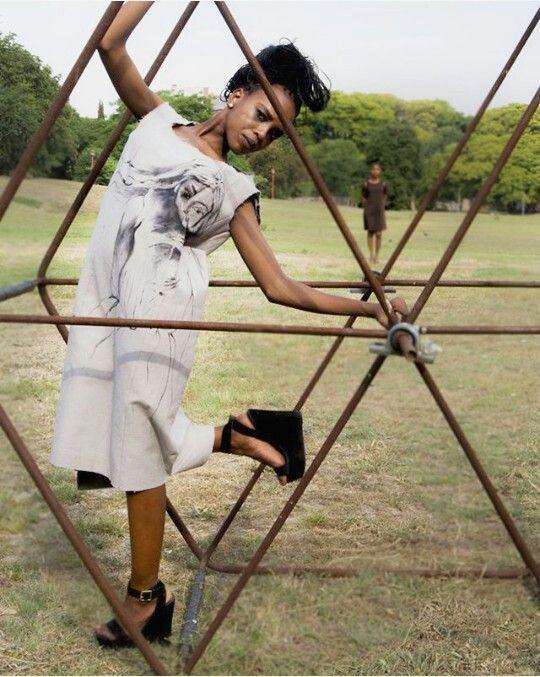 Fashion photography/ model: @ Basetsana_Modise/ Designer: Eulaine Mango/Photographer: @ Phenyo Ramaboea