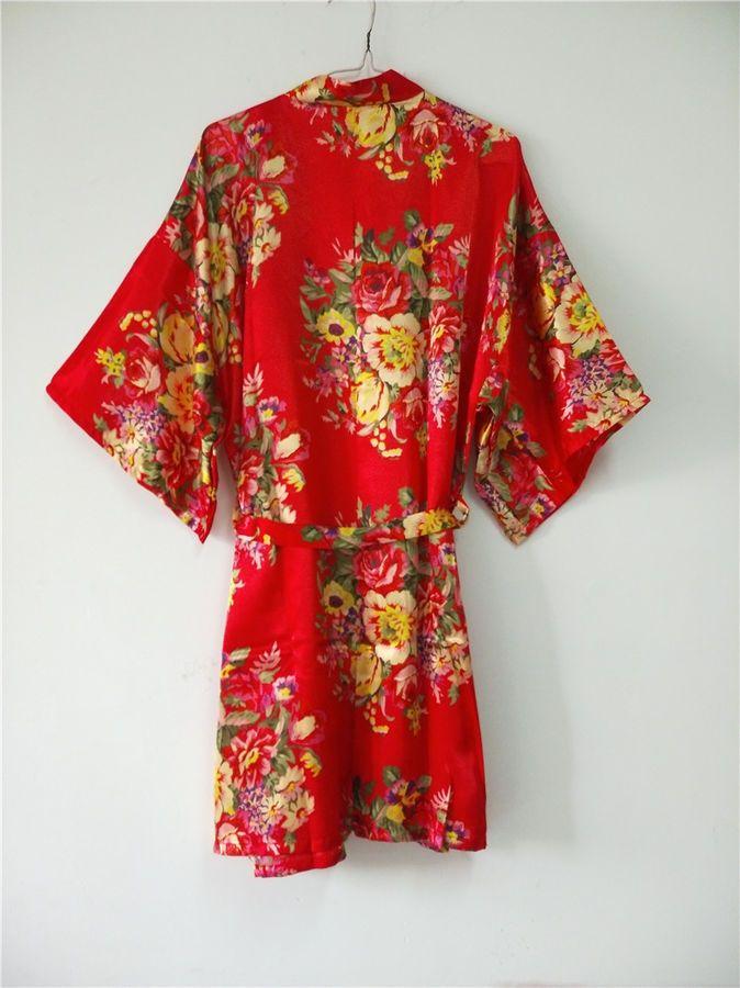 d176ef6bca New Silk Satin Floral bridesmaid robes gowns bride bath robe wedding kimono  robe bridesmaid robes Floral