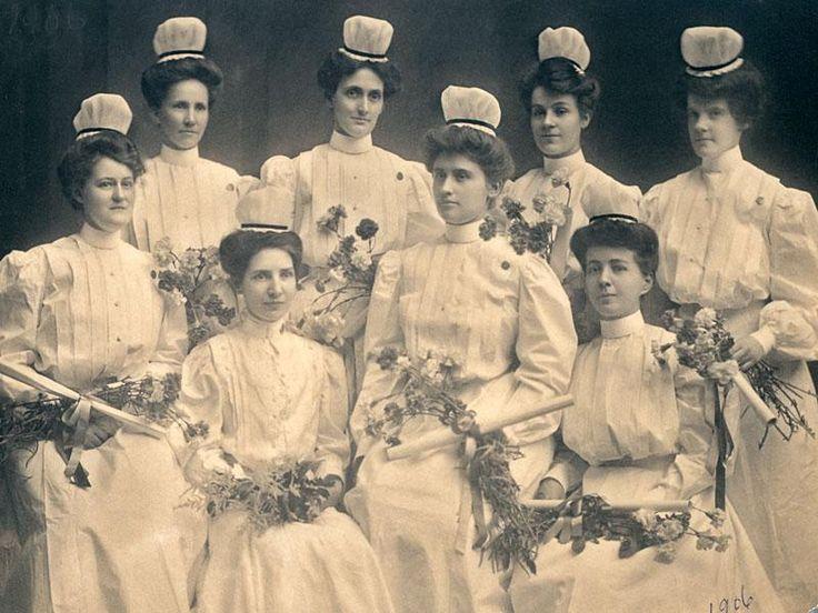 Graduates of Saint Joseph's Nursing School in Atlanta pose in 1906. The nursing school opened in 1900 and operated until 1973, graduating a total of more than 1,300 nurses.
