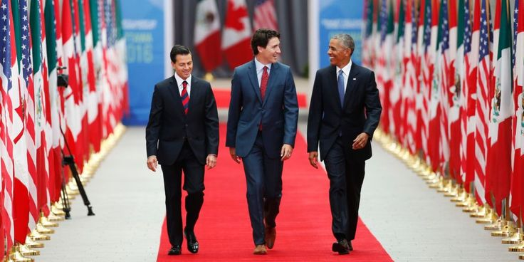 Barack Obama, Justin Trudeau, and Enrique Peña Nieto