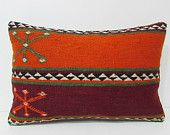 16x24 kilim pillow boho bedding geometric pillow sham primitive pillow cover accent throw pillow floral throw pillow bed pillow sham 25027