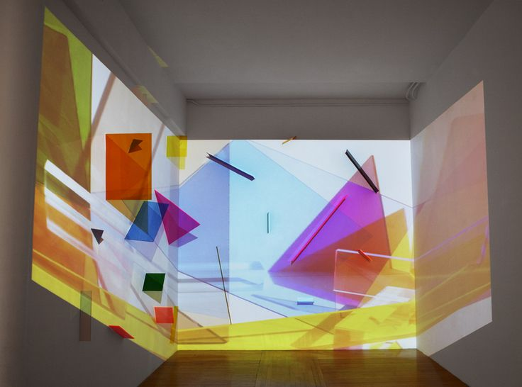Bahar Yurukoglu | Beautiful installations by Bahar Yurukoglu who creates interesting colorful abstract environments using  video projection over colorful pieces of plastics. | TRIANGULATION BLOG