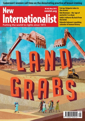May NI magazine on Land Grabs. ==========================  The smallholders' last stand ==========================  A visit to Mozambique dispels any notion that big business is going to 'feed Africa'. Hazel Healy reports on a land rush in full swing.    ==========================Read it here: http://digital.newint.com.au/issues/48    ==========================