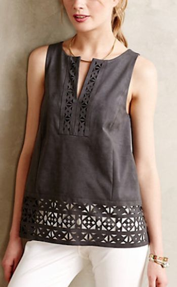 pretty grey cutout tank #anthrofave http://rstyle.me/n/r6gmhr9te