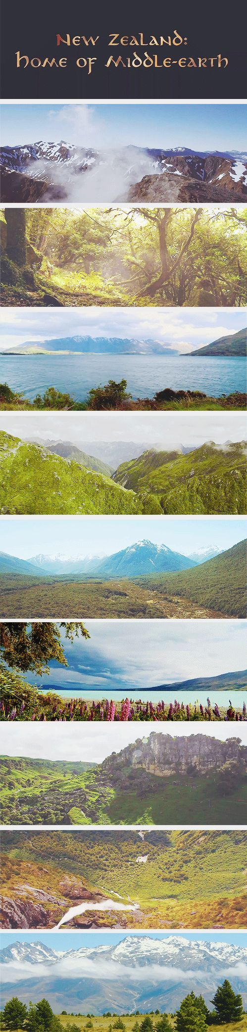 (gif set) New Zealand: Home of Middle Earth. That's it! Road trip right now!!!