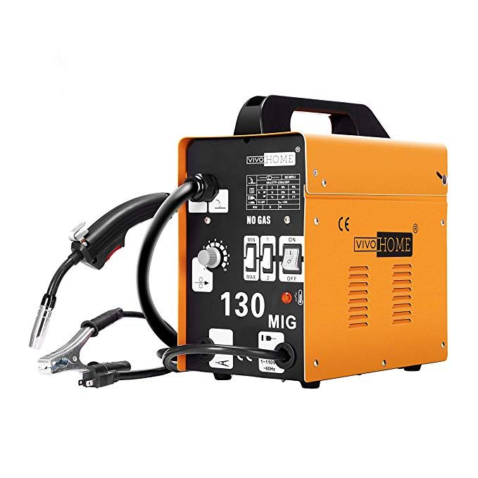 Vivohome Portable Flux Core Wire No Gas Mig 130 Welder Machine 110v Yellow Review Portable Welder Mig Welder Welding Machine