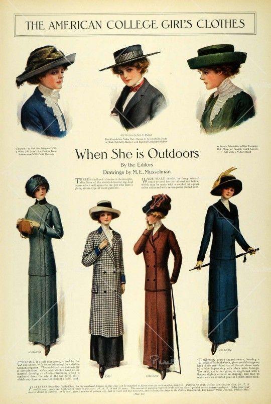 1911 Edwardian Fashion Lady