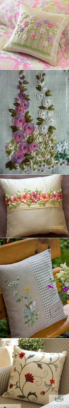 I love the forth pillow down, with half embroidery and half a material that's different.