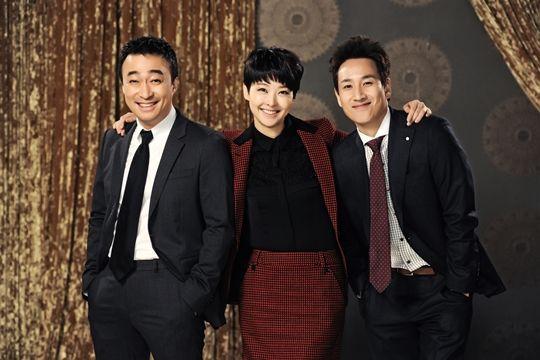 Lee Sun-Kyun, Lee Sung-Min y Song Seon-Mi (reparto de Miss Korea)