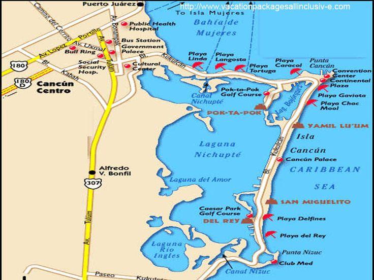 cancun tourism map mappa