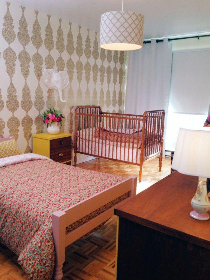 shared little girls bedroom