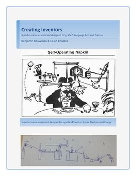 This resource is a final assessment piece used in conjunction with our Creating Inventors unit on Simple Machines and Energy. Inside you will find a page describing the task in student friendly words, as well as enough details to guide students on their task of creating a Rube Goldberg machine, but enough leeway to give them creative freedom.