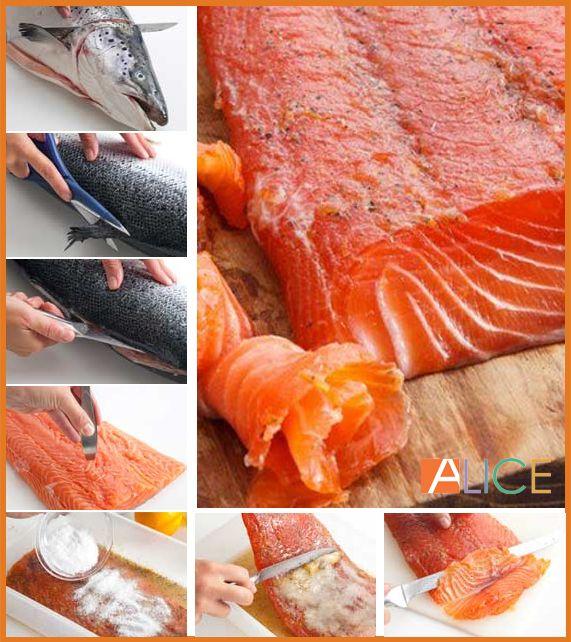 il salmone marinato al miele d'acacia è perfetto per ogni occasione.