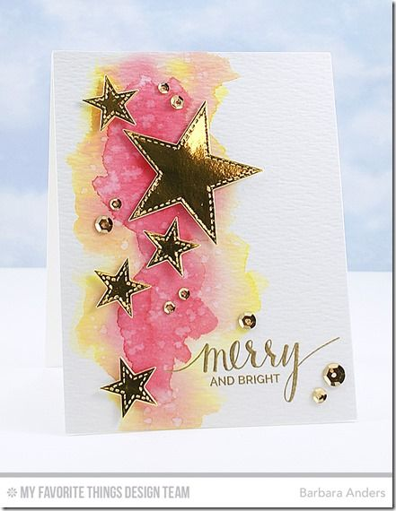 Hand Lettered Holiday, Stitched Star STAX Die-namics - Barbara Anders  #mftstamps