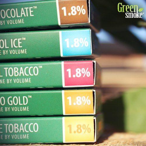 1.8% nikotīna stipruma pakāpe!