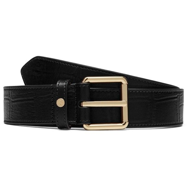 Mulberry 30mm Belt ($280) ❤ liked on Polyvore featuring accessories, belts, black, leather buckle belt, leather belt and buckle belt