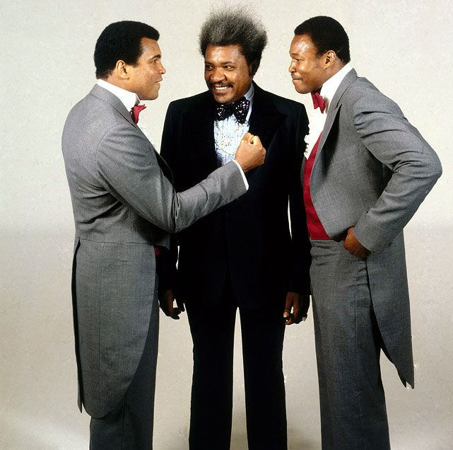 Muhammad Ali, Don King and Larry Holmes.