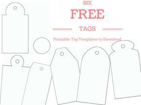 Make Your Own Custom Gift Tags with These Free Printable Tag Templates: Six Free Gift Tag Templates - Printable PDF