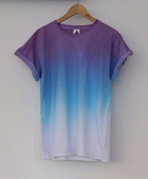 T-shirt: ombre, hipster, grunge, blue              – Wheretoget