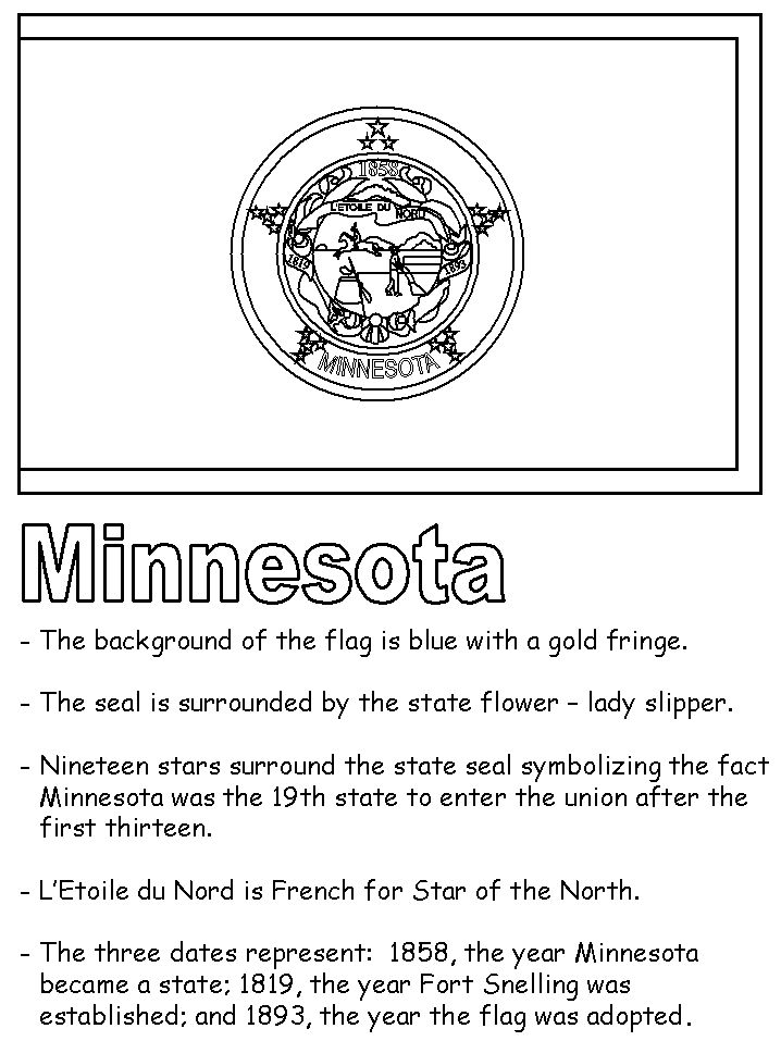 minnesota state symbols coloring pages - photo#15
