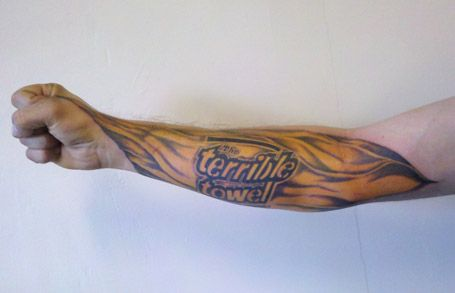This is too cool terrible towel tattoo for Tattoo shops junction city ks