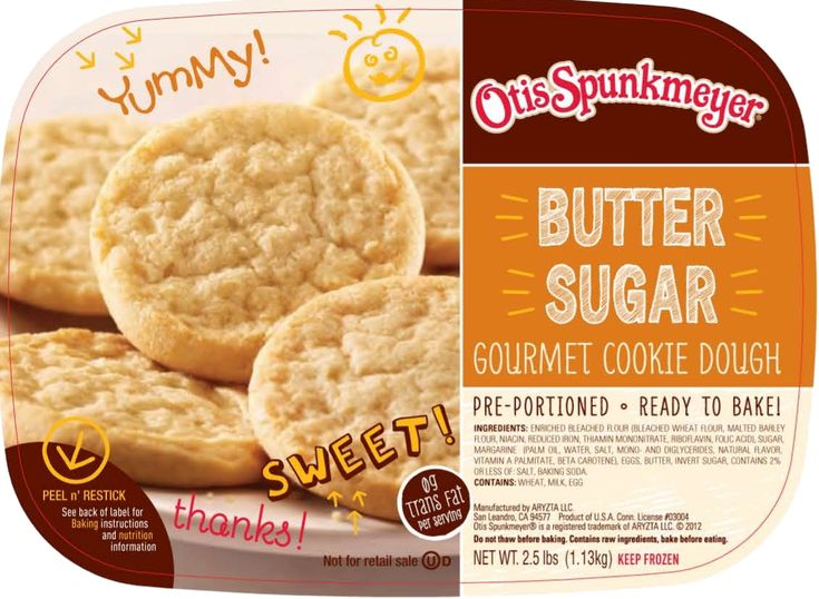Butter Sugar - Smooth creamy butter blended with just the right balance of sugar makes this classic cookie taste just like it was baked from scratch.