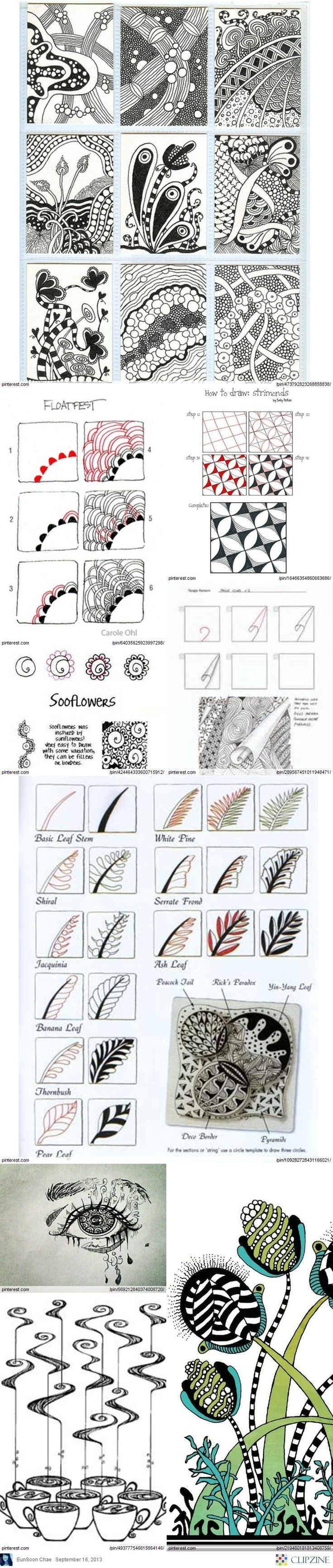 Zentangle patterns and ideas - Zentangle - #Zentangle - hand drawn art - zentangle patterns