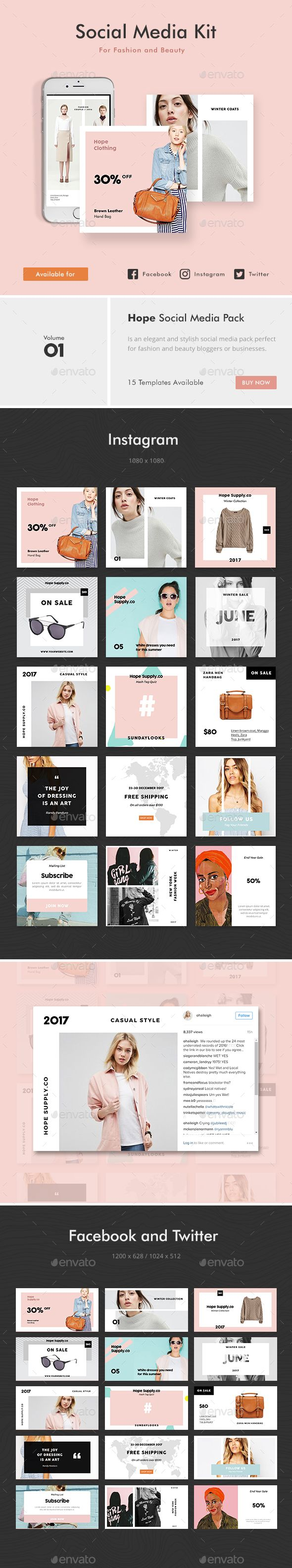 Social Media Kit 1 — Photoshop PSD #media #blogger • Download ➝ https://graphicriver.net/item/social-media-kit-1/19249097?ref=pxcr
