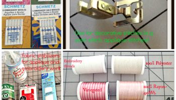 Three Basic supplies you will need  to work with decorative stitches on your Singer 401 Sewing Machine
