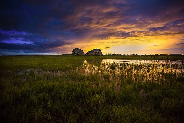 Okotoks Glacial Erratics by Brett Abernethy(A Calgary Night Photographer), via Flickr