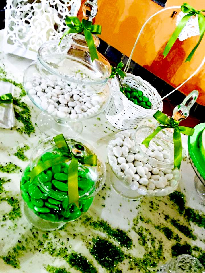 confettata white & green