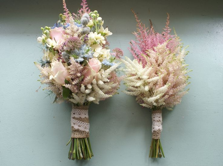 Really love the Astilbe wedding bouquets