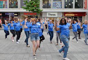 Liverpool shoppers treated to 'hair raising' display at Alopecia UK Flash Mob > Liverpool News > News | Click Liverpool