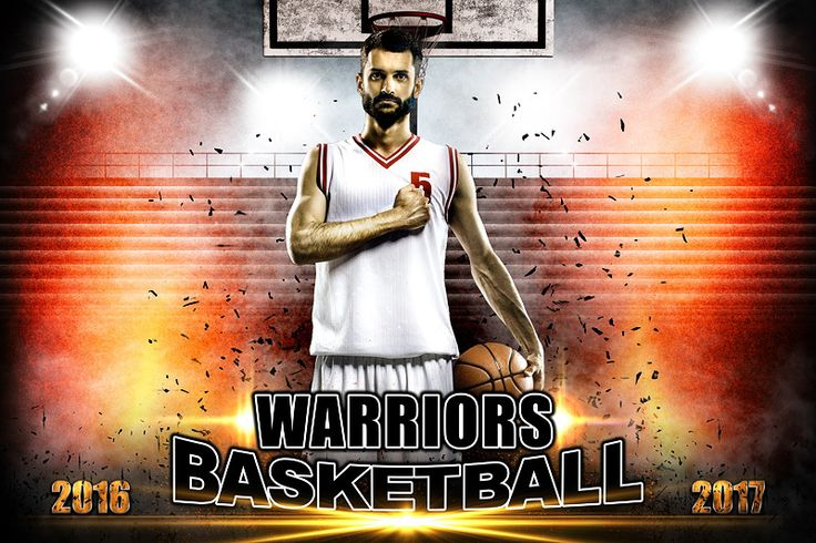 Player Banner Sports Photo Template - Impact Basketball