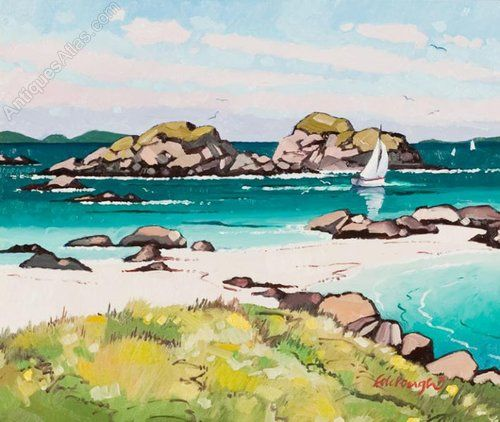 Antiques Atlas - Sailing Off Finden, Isle Of Mull By Frank Colclough