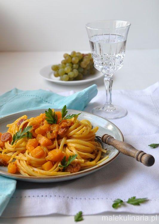 Na obiad dynia, tzn. makaron z dynią, chorizo i suszonymi pomidorami