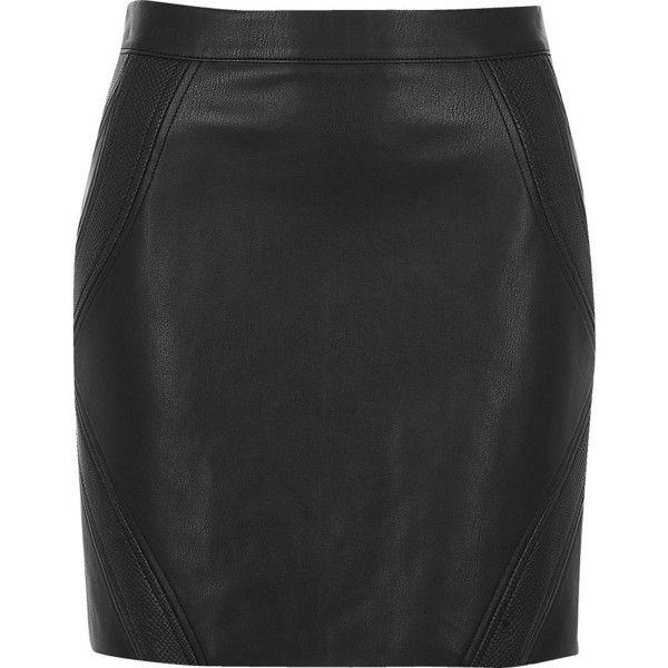 River Island Black snake panel mini skirt (£45) ❤ liked on Polyvore featuring skirts, mini skirts, black, women, tall skirts, panel skirt, vegan leather skirt, faux leather skirts and snake print skirt