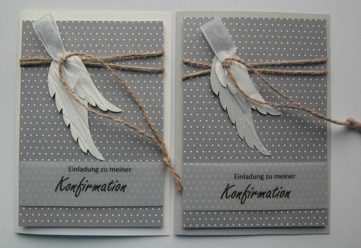 Einladungskarten – Einladung Konfirmation/Kommunio…
