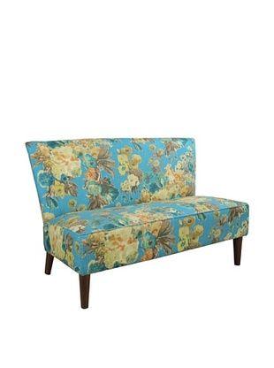 -54,800% OFF Skyline Furniture Modern Settee, Garden Odyssey Lagoon