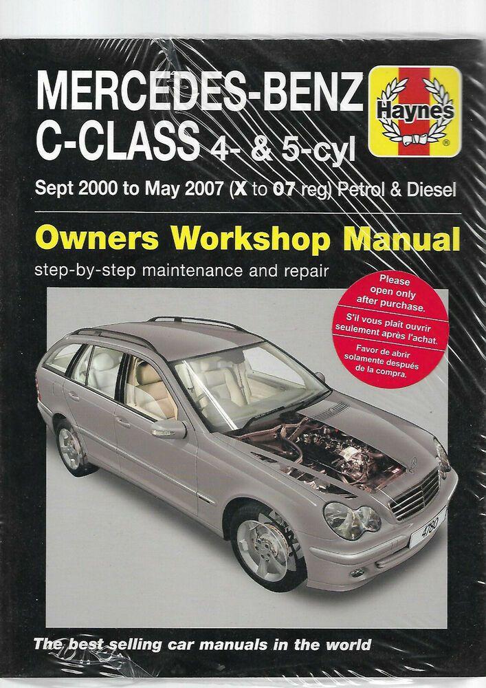 New Mercedes C Class W203 C160 C180 C200 C230 Petrol T Diesel Haynes Kompressor