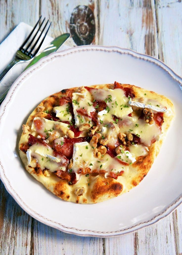 This flatbread is a total blend of sweet, salty, crunchy, and creamy. Get the recipe at Plain Chicken.   - Delish.com