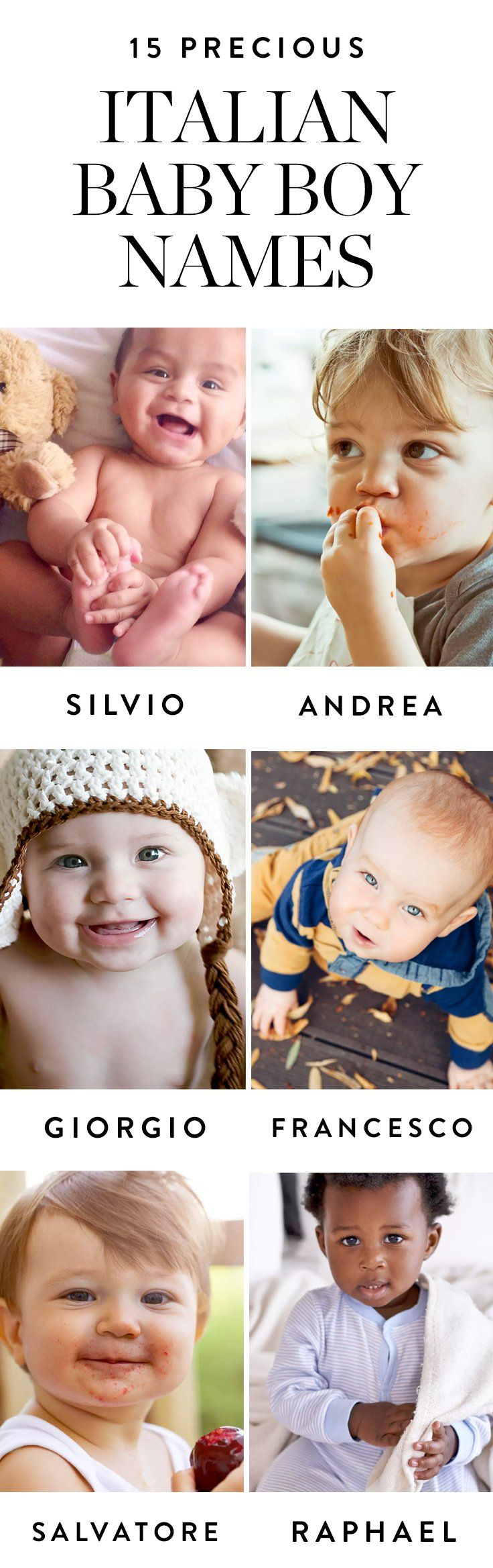 Here are 15 of our favorite Italian baby boy names that are perfect for your little bambino.