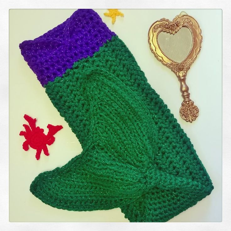 Handmade crochet mermaid tail by Handmade by Cinnamon Cottage